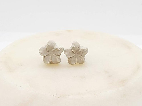 Memorial Ash Concrete Flower Plumeria Earrings/Cremation Earrings/Pet Memorial