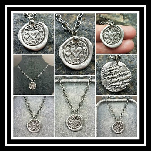 Heart Memorial Ash Pendant Necklace