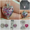 Thumbnail: Memorial Ash Cremation Heart Locket
