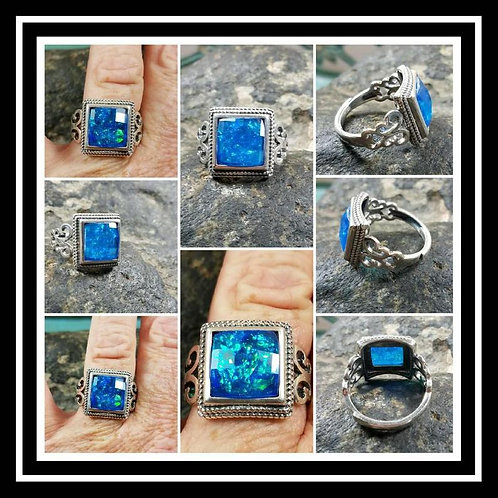 Filigree Sterling Silver Memorial Ash Ring/Memorial Ash Jewelry/Pet Memorial Jew