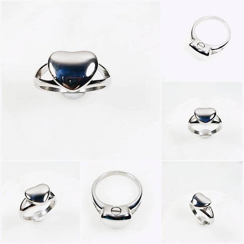 Memorial Ash Stainless Steel Cremation Heart Urn Ring/Urn/Cremation Ring/Funnel,