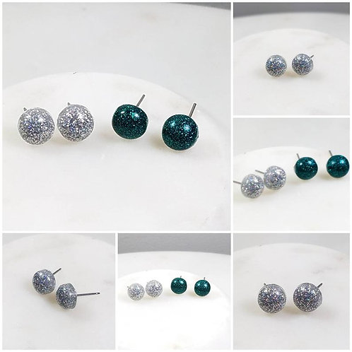 Memorial Ash Cremation Round Earrings/Pet Memorial/Memorial Earrings/Cremation J