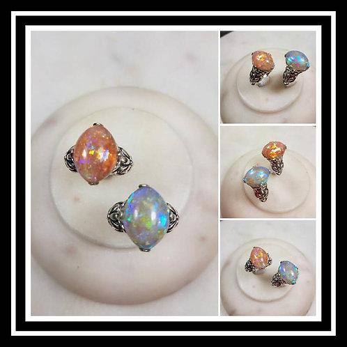 Ornate Oval Memorial Ash Sterling Silver Ring /Memorial Ash Cremation Ring/Pet M