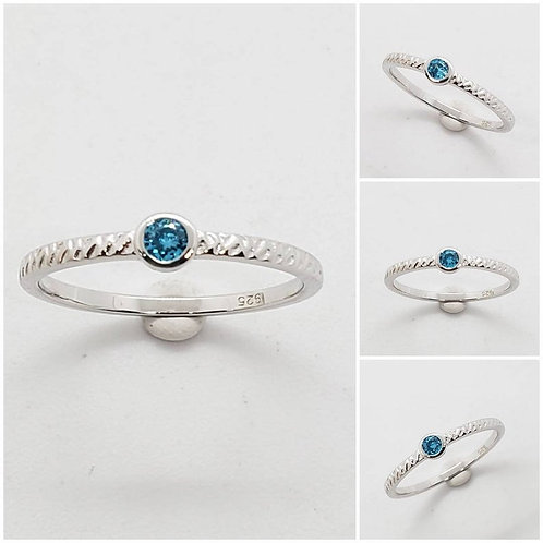 Studiodragonfly19 Memorial Ash Sterling Silver CZ Round Band Cremation Ring