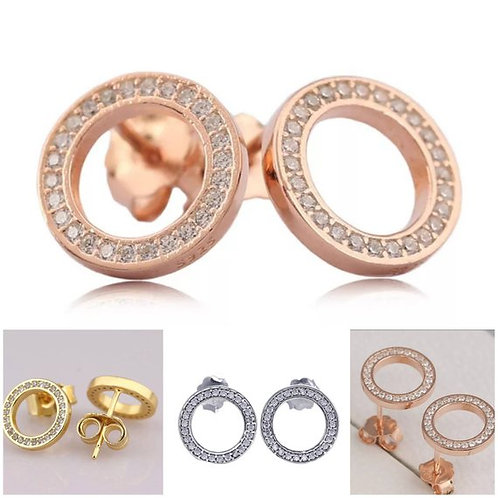 Studiodragonfly19 Gem Stone Circle Cremation Memorial Ash Earrings