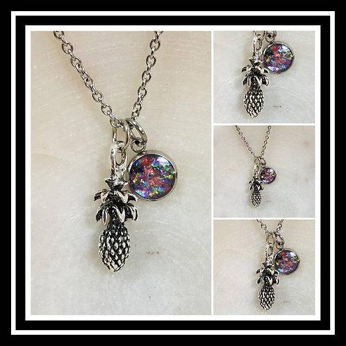 Memorial Ash Cremation Pineapple Necklace/Cremation Pendant/ Pet Memorial Jewelr