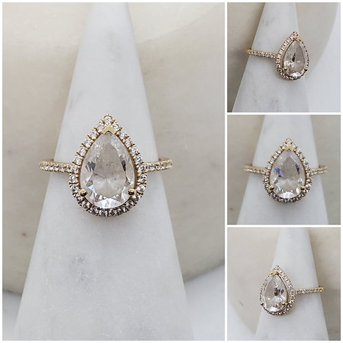 Studiodragonfly19 Memorial Ash Pear Gold and  Diamond Cremat