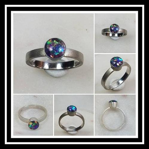 Memorial Ash Sterling Silver Bezel Cremation Ring