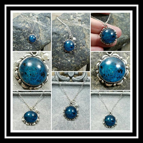 Starry Night Memorial Ash Pendant Necklace/ Memorial Ash Jewelry/ Pet Memorial J
