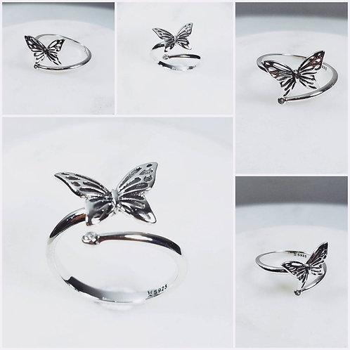 Studiodragonfly19 Gem Stone Memorial Ash Gold Diamond Butterfly Cremation Ring