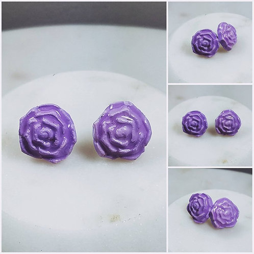 Memorial Ash Clay Flower Earrings/Cremation Earrings/Pet Memorial Jewelry/Clay C
