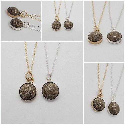 Sterling Silver Round Bezel Memorial Ash Pendant/Memorial Ash Jewelry