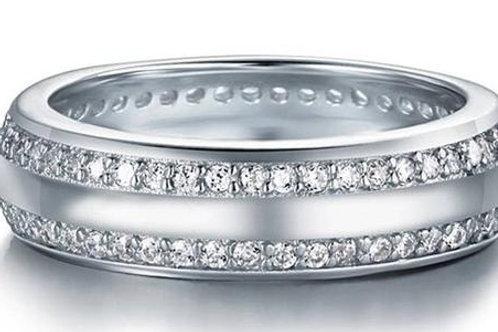 Studiodragonfly19 Memorial Ash Sterling Silver CZ Minimalist Ring