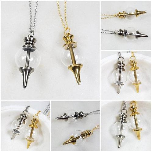DIY Cremation Glass Pendulum/Memorial Ash Necklace/Pet Memorial/Cremation Jewelr