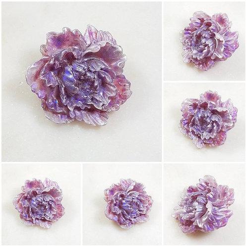Memorial Ash Flower Brooch Pin/Cremation Jewelry/ Cremation Pin/Pet Memorial/ Me