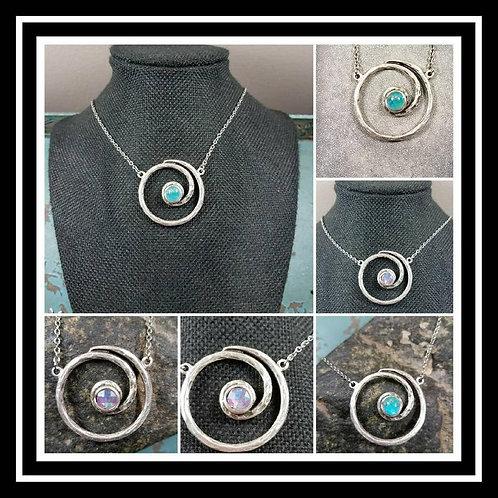 Circle of Life Memorial Ash Pendant/Memorial Ash Jewelry/ Pet Memorial Ash Penda
