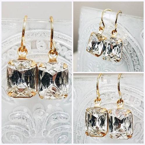 Studiodragonfly19 Cremation Vintage Crystal Stone Memorial Ash Earrings