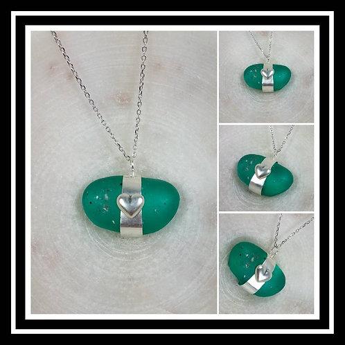 Sterling Silver Heart Memorial Cremation Pendant/ Ash Memorial Necklace/Pet Memo