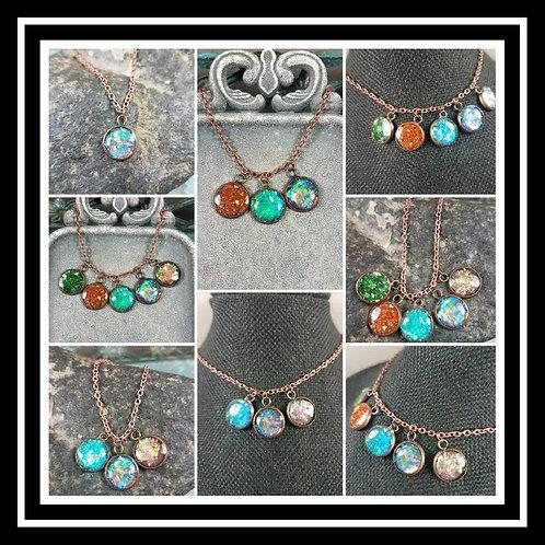 Memorial Ash Copper Necklace/Cremation Pendant/ Pet Memorial Jewelry/ Memorial J