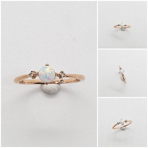 Studiodragonfly19 Memorial Ash Minimalist  Opal Rings
