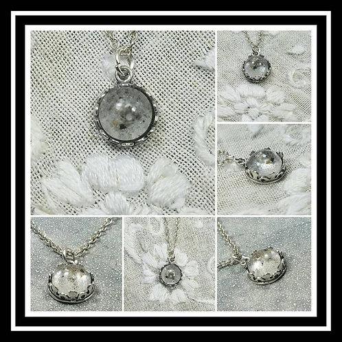 Sterling Silver Memorial Ash Pendant Necklace / Memorial Ash Jewelry/Pet Memoria