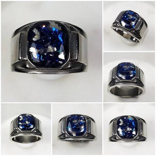 Mens Stainless Steel Memorial Ash Ring/ Memorial Jewelry