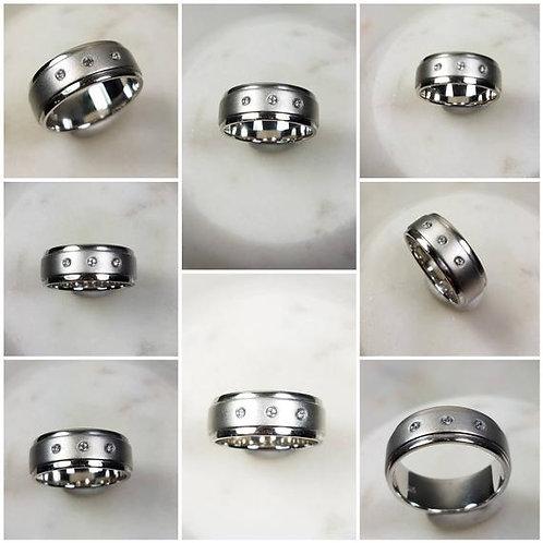 Studiodragonfly19 Mens Memorial Ash Sterling Silver Ring /Memorial Ash Cremation
