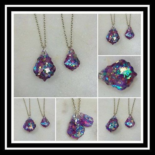 Memorial Ash Faceted Crystal Pendant Necklace