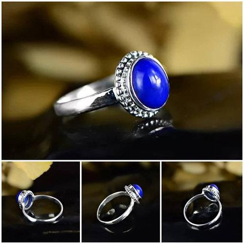 Studiodragonfly19 Gem Stone Memorial Ash Lapis Bezel Ring