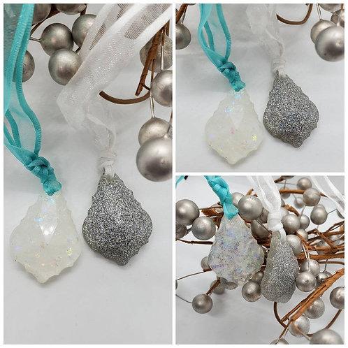 Memorial Cremation Ash Crystal Drop Ornament/Memorial Mermaid/Cremation Ornament