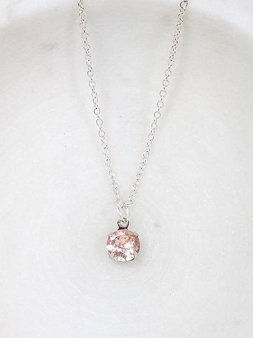 Studiodragonfly19 Roseline Pink Glass Stone Memorial Ash Pendant
