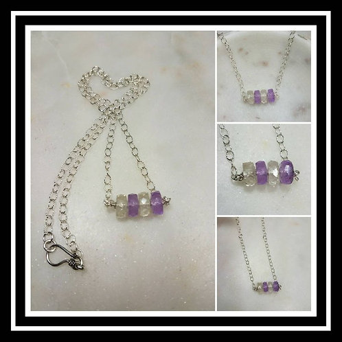 Memorial Ash Faceted Rondelle Sterling Silver Necklace/Cremation Pendant/ Pet Me
