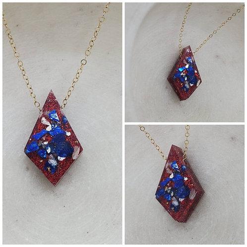 Sliding Diamond Memorial Ash Necklace/Memorial Necklace /Pet Memorial Necklace
