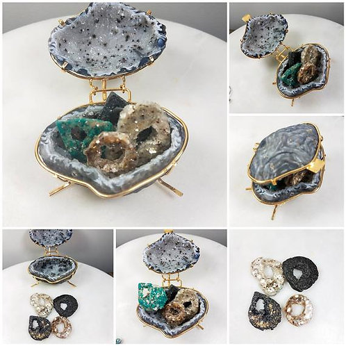 Geode Memorial Ash Box Crystal Memorial/ Cremation Stone