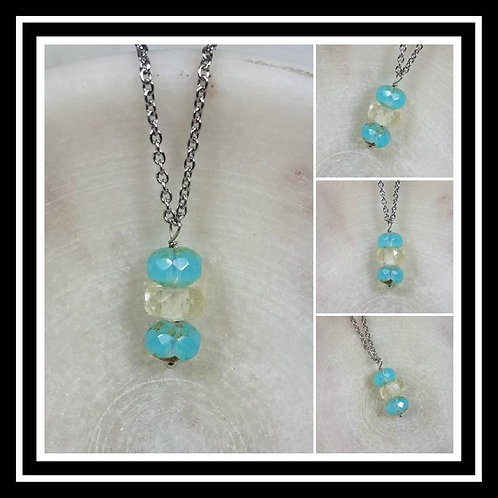 Memorial Ash Faceted Crystal Pendant Necklace/Cremation Memorial Necklace/Pet Me