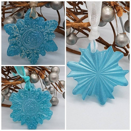 Memorial Cremation Ash Snow Flake Ornament/Memorial Mermaid/Cremation Ornament