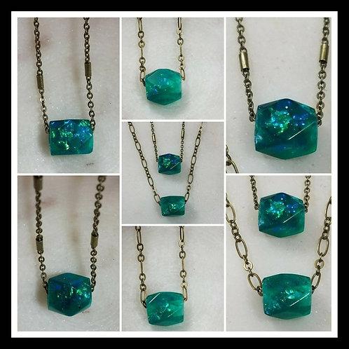 Memorial Ash Bead Pendant Necklace/Cremation Pendant/ Pet Memorial Jewelry/Crema