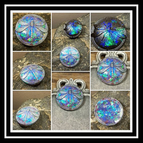 Dragonfly Memorial Ash Round Paper Weight