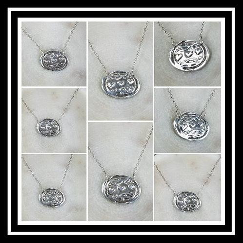 Triple Hearts Memorial Ash Pendant Necklace