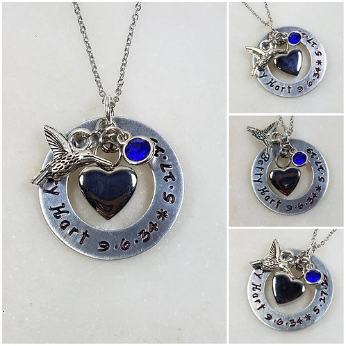 Memorial Ash Initial Heart Urn Charm Pendant Necklace /Cremation Necklace/Pet As