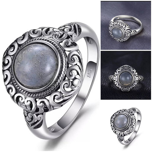 Memorial Ash Sterling Silver Cremation Ring /Memorial Ash Cremation Ring/Pet
