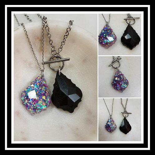 Memorial Ash Crystal Pendant Necklace/Cremation Memorial Jewelry/Pet Memorial/Ov