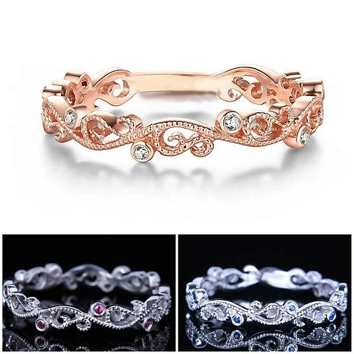 Studiodragonfly19 Memorial Ash Gold Diamond, Ruby or Sapphire Ring/Memorial