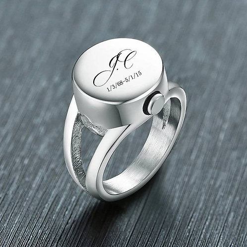 Memorial Ash Stainless Steel Cremation Urn Ring/Urn/Cremation Ring/Funnel