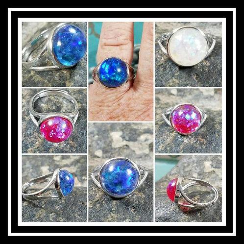 Sterling Silver Memorial Ash Ring/ Sentimental Jewelry/ Memorial Jewelry/Pet Mem