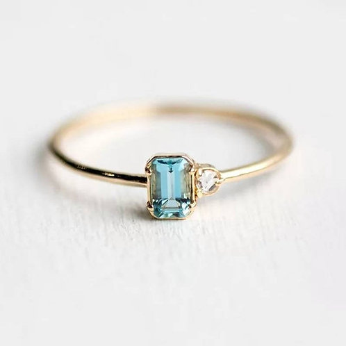 Memorial Ash Minimalist Gold Sterling Silver CZ Ring/ Memorial Ash Jewelry Pet