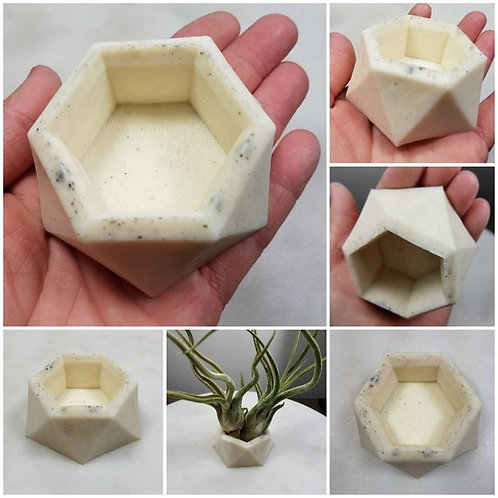 Memorial Ash Hexagon Candle Plant Votive