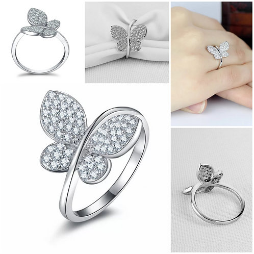 Studiodragonfly19 Memorial Cremation Ash Butterfly Ring