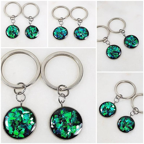 Memorial As Keychain/Cremation Keychain/Pet Memorial Bracelet/Over 80 Color Opti