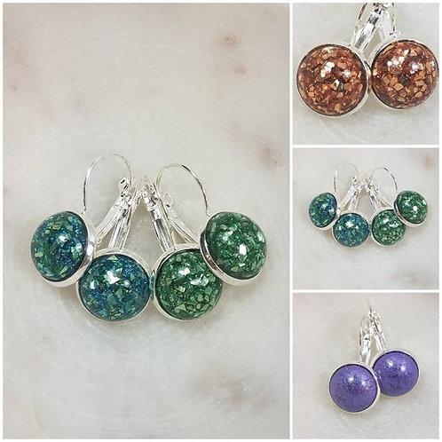 Memorial Ash French Lever Earrings/ Memorial Jewelry